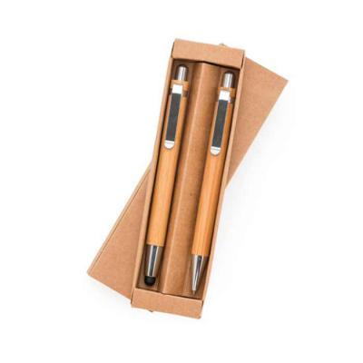 MarkhaBrasil Brindes Personalizados - Kit ecológico caneta e lapiseira em bambu