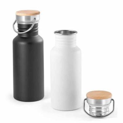 MarkhaBrasil Brindes Personalizados - Squeeze em Aço inox com Tampa em bambu