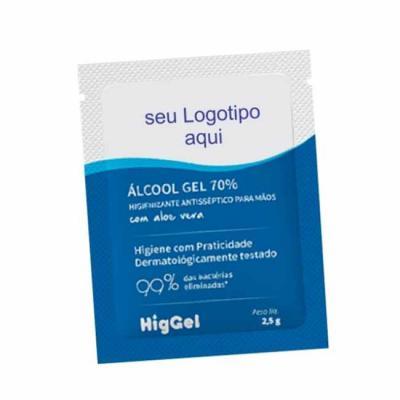 Unictech Brindes Promocionais - Álcool em gel sachê  Coloque seu logo na embalagem