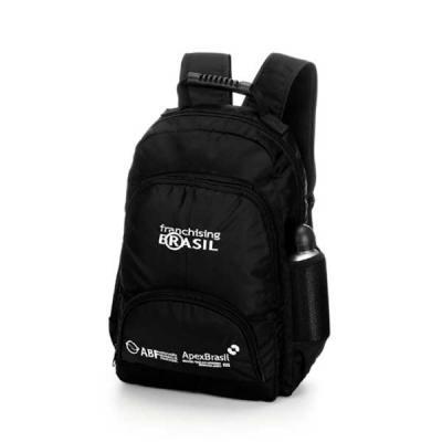 Primme Mark - Mochila em nylon com porta notebook, compartimento principal e dois bolsos, bolso lateral para squeeze