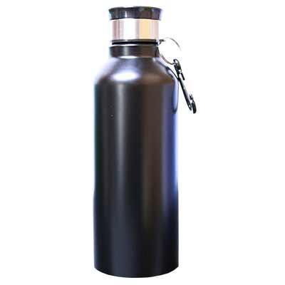Libelula Express - Squeeze Alumínio com mosquetão preto Tampa rosqueável   Resistente à corrosão e oxidação Livre de BPA Vedação em borracha protetora de silicone Altura...