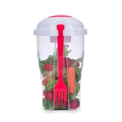 All Creative - Copo Salada 850ml com Garfo e Suporte para Molho