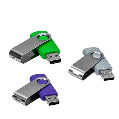 """All Creative - Pen drive de metal giratório 4GB/8GB/16GB/32GB, parte interna preta em plástico resistente. Possui uma """"argola"""" na parte em metal que poderá ser utili..."""