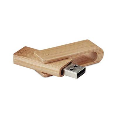 Canecas de Brinde - Pen drive giratório em bambu 4GB