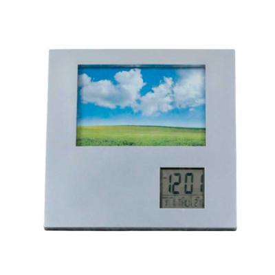 Magnifico Brindes - Porta Retrato Com Relógio 9 X 13 Cm