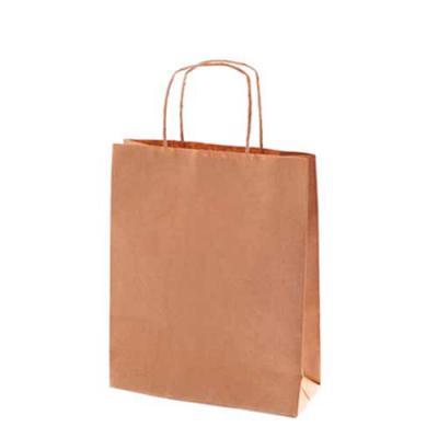 Impacta Print Brindes e Presentes - - Papel Kraft Pardo 110g - Com alças de papel torcido 22 cm - Tamanho sacola: 18 x 25 x 9,5 cm  PERSONALIZADO