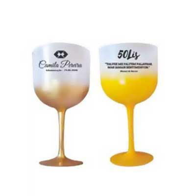 Impacta Print Brindes e Presentes - Taças de Gin Degradê 580ml Acrílicas Personalizadas  Taças acrílicas degradê personalizadas ( Laser transfer) estampa de 1 lado