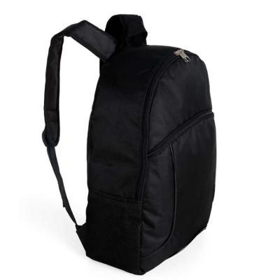 Brindara Brindes - Mochila nylon poliester para notebook. Possui compartimento grande com bolso interno para notebook, bolso frontal e bolsos laterais de rede. Z�peres p...