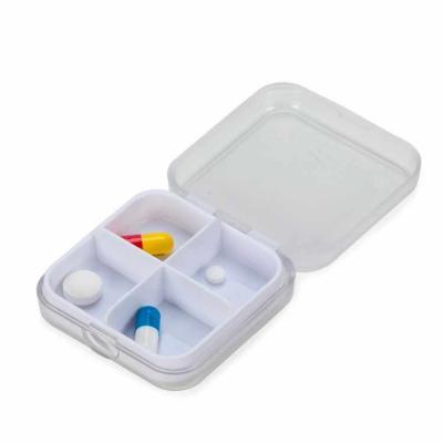 Brindara Brindes - Porta comprimido de acr�lico fosco, possui �bandeja� de quatro divis�rias para comprimidos.