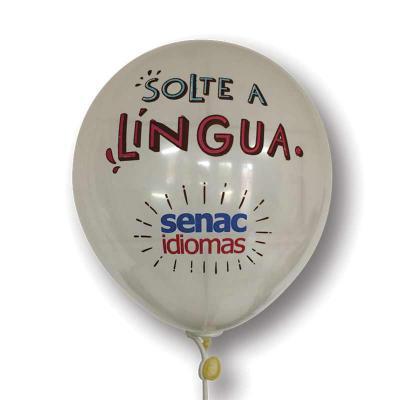 Print Balloon - Balões Personalizados - Balões de Látex Personalizados - Transparente