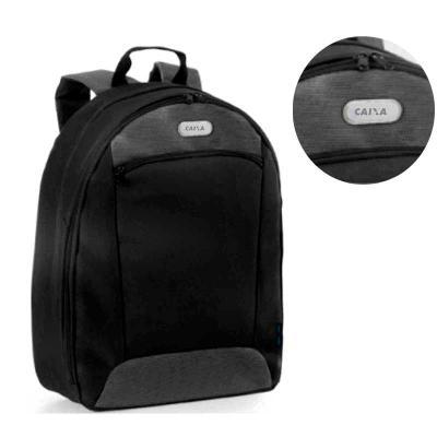 Ideal Gift - Mochila para notebook. 600D2Tone e 300D. Compartimento com divisória almofadada para notebook até 14''. Interior forrado e almofadado, com diversos bo...