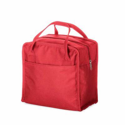 Lesan Brindes e Produtos Promocionais - Bolsa térmica 7 litros em nylon com dois bolsos externos nas laterais, alça para mãos e revestimento interno térmico. Acompanha plaquinha para persona...