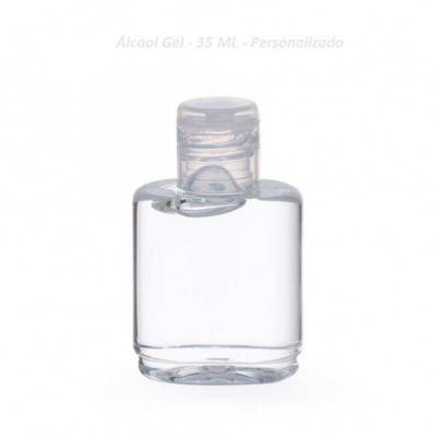 Lesan Brindes Total - Álcool gel em frasco plástico com opões em 35ml, 60ml, 100 ml e 250 ml. Personalizado com a sua marca, Solicitando orçamento especificar de quantos ML...