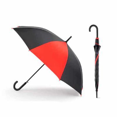 Rio4Pack Brindes - Guarda chuva. Poliéster 190T. Pega revestida a borracha. Abertura automática. ø1040 mm   830 mm.