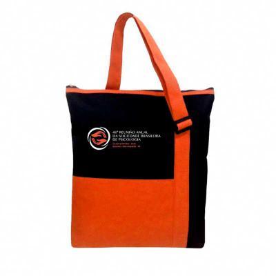 Rio4Pack Brindes - Bolsa personalizada em nylon com 02 compartimentos, fechamento superior em ziper,  alça com regulagem, bolso frontal e diversas cores.