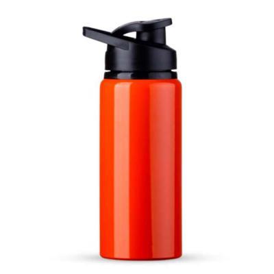 Rio4Pack Brindes - Squeeze alumínio de 600ml. Squeeze de pintura fosca, possui tampa plástica rosqueável com alça e tampa para o bico.