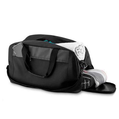 Digital Brinde - Bolsa esportiva de poliéster com abertura lateral para calçados, compartimento superior isolado para pertences molhados e bolso com abertura frontal....