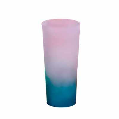 Digital Brinde - Copo long drink jateado personalizado, com capacidade de 300 ml o copo é resistente, colorido e possui ótimo acabamento. Brinde útil com espaço privil...