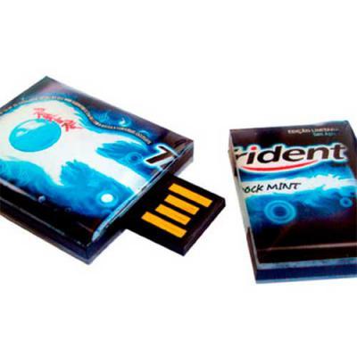 Digital Brinde - Pen drive retratil estilizado Dimensões conforme o projeto Material em acrílico Capacidade 4GB