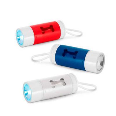 Digital Brinde - Porta saquinhos para cachorro personalizado. Brinde útil, resistente esse modelo possui lanterna e está disponível em três cores. Com ótimo espaço par...