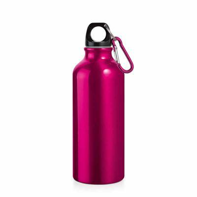 Digital Brinde - Squeeze. Alumínio. Com mosquetão. Capacidade: 500 ml. Food grade. Caixa branca 94656 vendida opcionalmente. ø66 x 210 mm