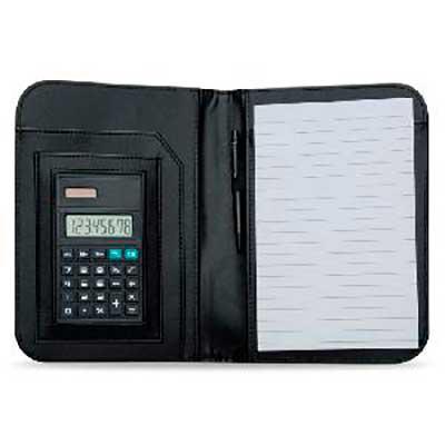 Yama Brindes Corporativos - Bloco de Anotações com Calculadora e Caneta