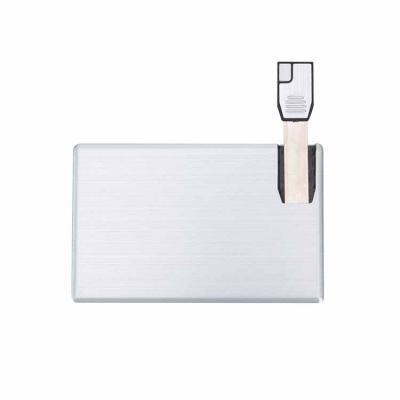 Yama Brindes Corporativos - Pen card 4GB de alumínio. Cartão slim frente e verso liso, basta empurrar o slot para utilização.  Medidas aproximadas para gravação (CxL):  6,7 cm x...