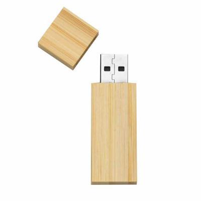 Yama Brindes Corporativos - Pen drive 4GB de bambu com tampa de imã, frente e verso lisos.  Medidas aproximadas para gravação (CxL):  4 cm x 1,7 cm  Tamanho total aproximado  (Cx...