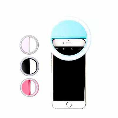 Yama Brindes Corporativos - Luz Selfie Ring Light Clipe Anel Led Flash Celular Consultar cores no ato do pedido   Azul, rosa, preto e branco