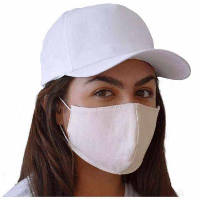 São José Confecções - Máscara de proteção fabricada em sarja ecológica (100% algodão), tecido sem tingimento, que proporciona a respiração sem qualquer contato com qualquer...