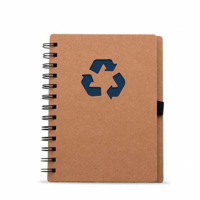 Mare Brindes e Presentes Personalizados - Bloco de anotação ecológico com símbolo reciclado na capa, acompanha com as folhas: vermelha, amarela, laranja, azul, verde e preto, possibilitando de...