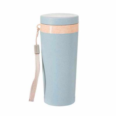 Mare Brindes e Presentes Personalizados - Copo térmico de fibra de bambu de 350ml com alça. Copo produzido em Polipropileno livre de BPA, possui uma tampa de vedação rosqueável e alça de nylon...