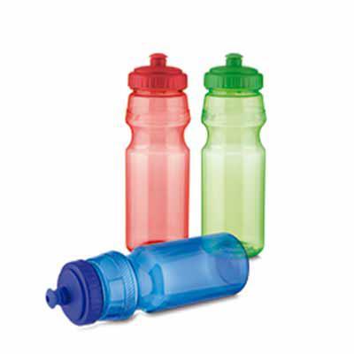 Gis Mascotes e Brindes Corporativos Personalizados - Squeeze de plástico, tampa rosqueável e bico com trava. Capacidade 750 ml.