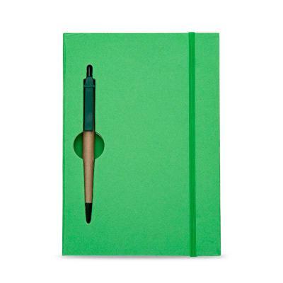Brindes SM Corporativos - Bloco de Anotações Ecológico com Caneta promocional colorido com caneta. Capa de papelão com recorte vazado(as folhas também) no qual é possível visua...