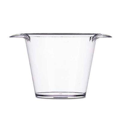 Inbox Brindes - Balde de gelo em acrílico colorido com capacidade de 4 litros com alças laterais.  Possui uma única versão leitosa, cor branca.