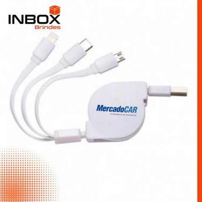 Inbox Brindes - Cabo USB 3 em 1