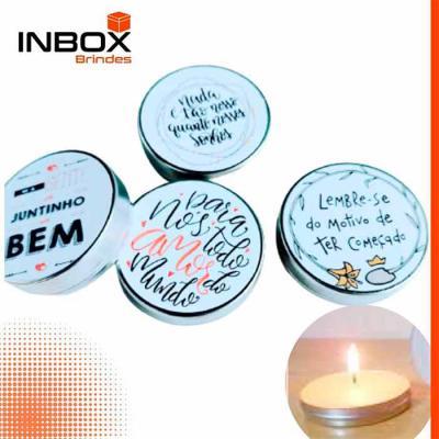 Inbox Brindes - Vela na latinha personalizada