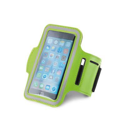 Inbox Brindes - Braçadeira para celular. Soft shell de alta densidade. Com elementos refletivos e fecho ajustável. Para smartphone 5''. 430 x 150 mm