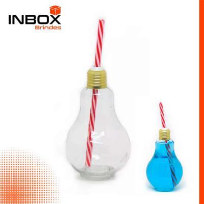 Inbox Brindes - Copo Lâmpada com Canudo de 300 ml