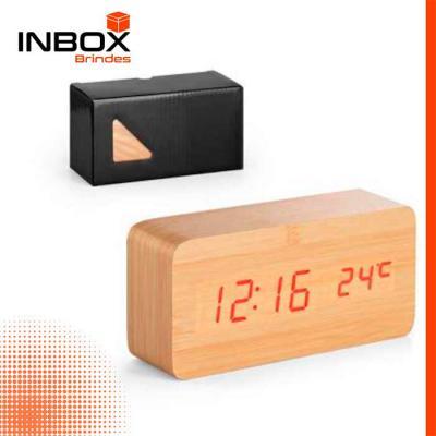 Inbox Brindes - Relógio MDF
