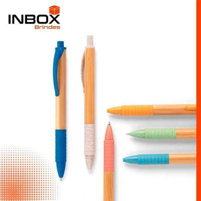 Inbox Brindes - Esferográfica de Bambu