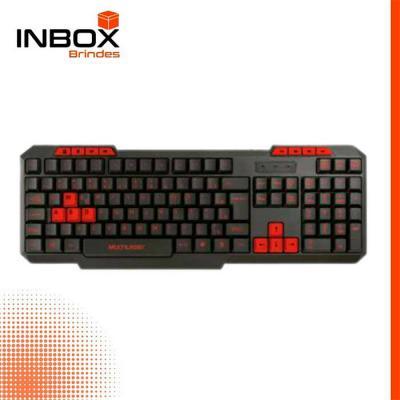 Inbox Brindes - Teclado Gamer Multilaser Com Hotkeys Multimídia Slim