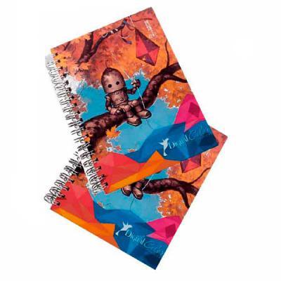 Digital Color Brindes - Agenda personalizada com capa dura 17 x 26 cm / personalizada 100% / calendários 2021 e 2022 / miolo  com 100 folhas em sulfite 75g /  1 cor / folha d...