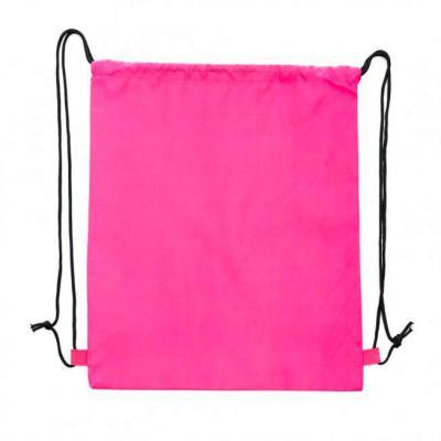 More Gifts - Mochila saco rosa, material em nylon 80. Altura :  41,3 cm Largura :  35,5 cm Peso aproximado (g):  74