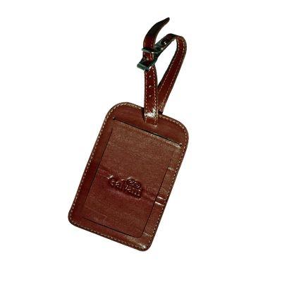 Galvani - Identificador de bagagem com fivela todo pespontado.