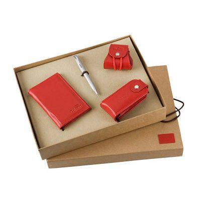 Galvani - Kit presente, contendo porta níquel, porta batom, porta cartões e caneta.