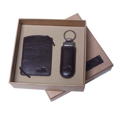 Galvani - Kit com porta cartão de visita e chaveiro.