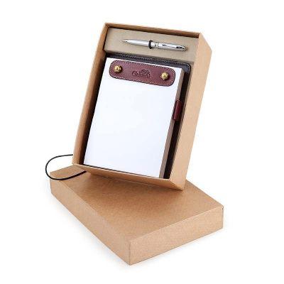 Galvani - Kit com porta bloco e caneta.