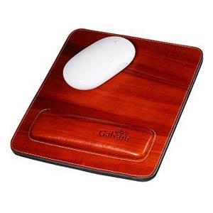 Galvani - Mouse pad com apoio para o pulso, todo pespontado.