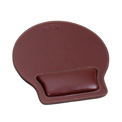 Galvani - Mouse pad com apoio de pulso, todo pespontado.